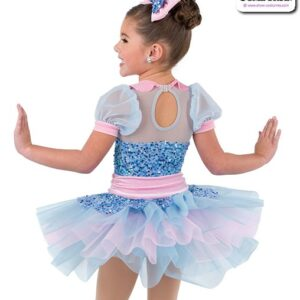 22934  Small Paillette Sequin Kids Tap Dance Costume Rear