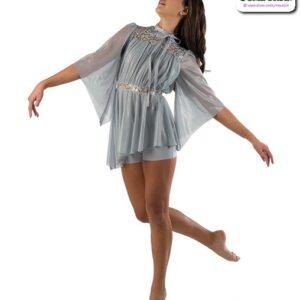 22935  Textured Glimmer Mesh Lyrical Contemporary Dance Costume