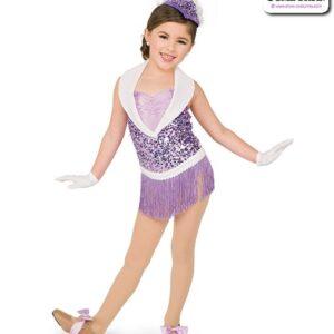 22942  Sequin Fringe Kids Jazz Dance Costume