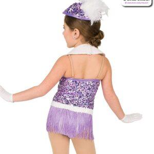 22942  Sequin Fringe Kids Jazz Dance Costume Rear