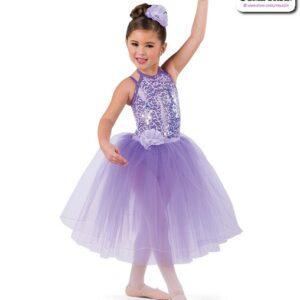 22944LT  Sequin Trimmed Kids Tap Jazz Dance Organza Romantic Tutu Skirt