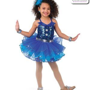 22947  Metallic Sequin Kids Tap Dance Costume