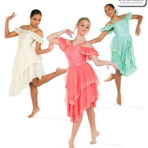 22950  Spandex Chiffon Lyrical Contemporary Dance Dress