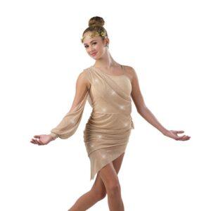22952  Glitter Asymmetrical Lyrical Dance Dress