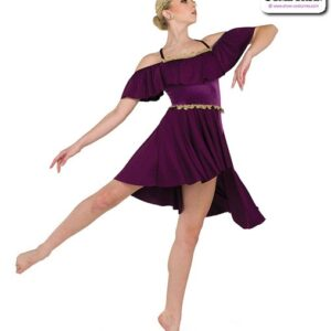 22954  Velvet Glossy Sapndex Lyrical Contemporary Dance Costume