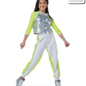 22957  Hologram Sequin Hip Hop Performance Costume