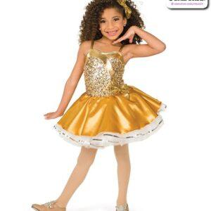 22958  Luxe Sequin Kids Tap Dance Costume