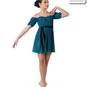 22959  Glitter Mesh Lyrical Contemporary Dance Dress