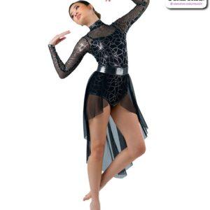 22963 SK  Highlow Tap Jazz Dance Mesh Skirt A