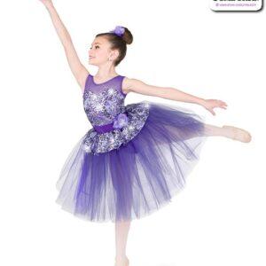 22965  Sequin Foil Lace Romantic Ballet Tutu