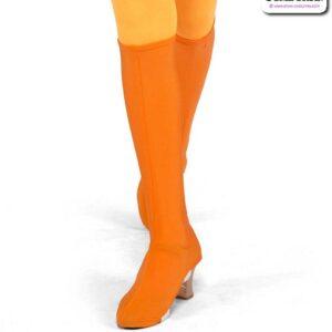22970B  Spandex Boot Covers Dance Costume Accessory Orange