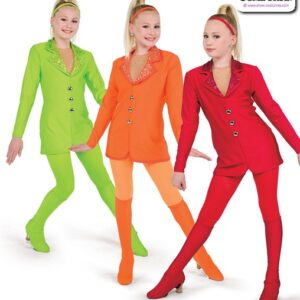 22970 22970  Sequin Dot Mesh Solid Spandex Jazz Dance Costume A