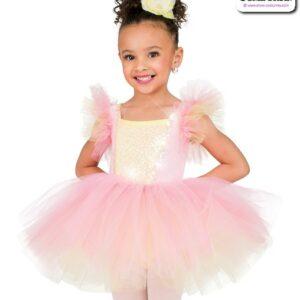 22971  Kids Velvet Sequin Ballet Tutu Candy Pink