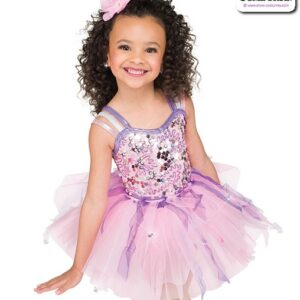22974  Glitz Sequin Mesh Kids Tap Dance Costume Blush