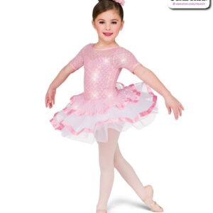22975  Diamond Pattern Sequin Kids Performance Ballet Tutu