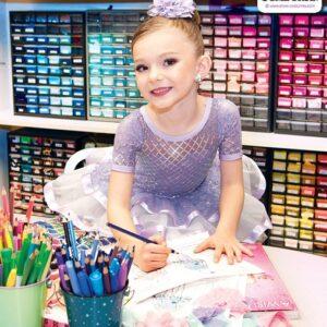 22975  Diamond Pattern Sequin Kids Performance Ballet Tutu Feature