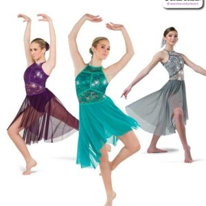 22976  Sequin Stretch Lace Lyrical Contemporary Dance Dress