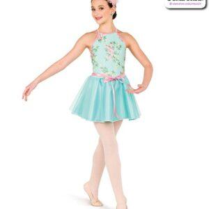 22977  Embroidered Swiss Dot Mesh Performance Ballet Dress
