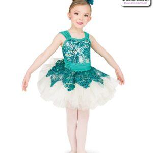 22979  Sequin Stretch Lace Kids Performance Short Ballet Tutu
