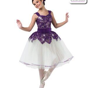 22980  Sequin Stretch Lace Romantic Ballet Tutu