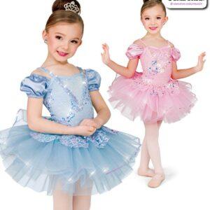 22983  Scattered Sequin Kids Performance Short Ballet Tutu