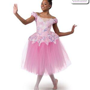 22984  Sacttered Sequin Lace Romantic Ballet Tutu Candy Pink