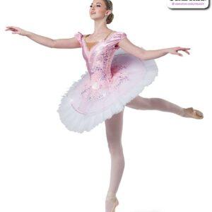 22985  Scattered Sequin Lace Sequin Spandex Ballet Leotard