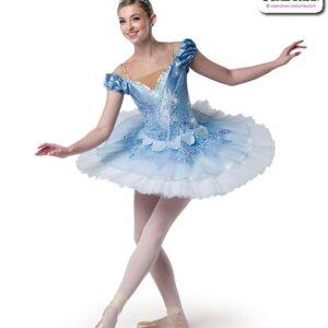22985  Scattered Sequin Lace Sequin Spandex Ballet Leotard Platter B