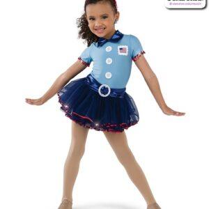 22986  Spandex Foil Lycra Postie Character Dance Costume