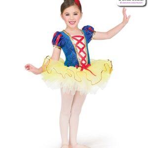 22989  Embossed Velvet Kids Performance Short Ballet Tutu