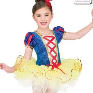 22989  Embossed Velvet Kids Performance Short Ballet Tutu A