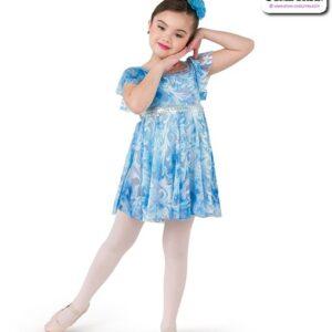22991  Filagree Burn Out Kids Lyrical Dance Dress