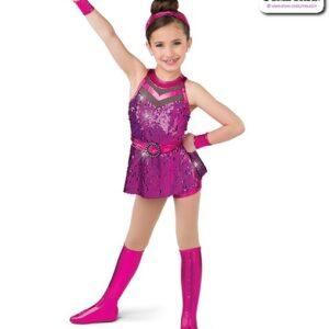 22993  Hologram Sequin Kids Jazz Dance Shortall