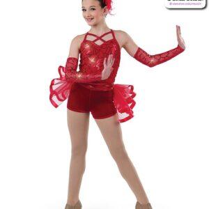 22994  Pattern Sequin Mesh Jazz Dance Costume