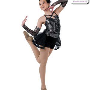 22994  Pattern Sequin Mesh Jazz Dance Costume B