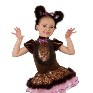 2 V2113Y  Bear Cha Cha Bear Character Dance Costume