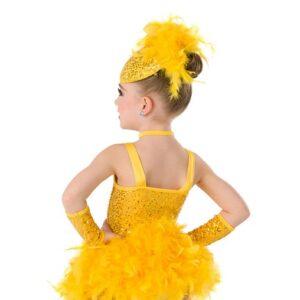 2 V2129Y  Chickadee Bird Character Performance Dance Costume Back