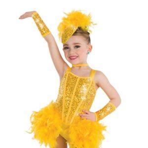 2 V2129Y  Chickadee Bird Character Performance Dance Costume Yellow