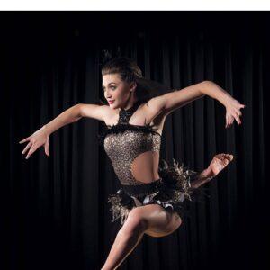 2 V2164Y  Redemption Cheetah Print Performance Dance Costume