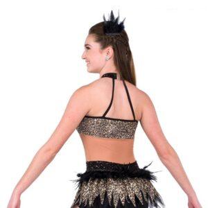 2 V2164Y  Redemption Cheetah Print Performance Dance Costume Back