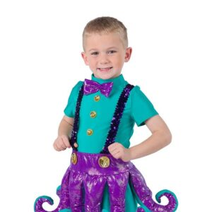 2 V2215G  Octopus Boys Character Performance Dance Costume