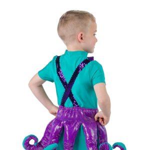 2 V2215G  Octopus Boys Character Performance Dance Costume Back