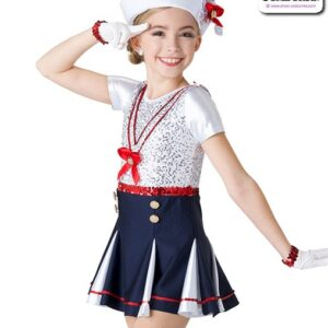 2 V2318Y  Kids Sailor Character Performance Dance Costume A