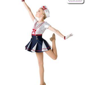 2 V2318Y  Kids Sailor Character Performance Dance Costume Side