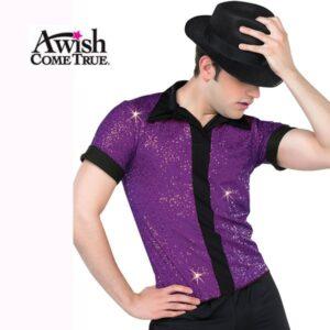 Sequin Placket Shirt 2