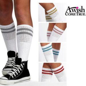 Striped Metallic Socks