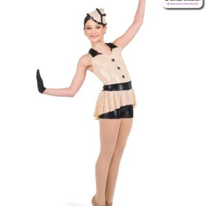 418  Sequin Military Character Dance Costume