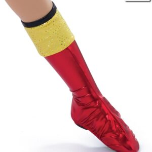 522B  Great Balls Of Fire Character Boot Covers Costume Accessory
