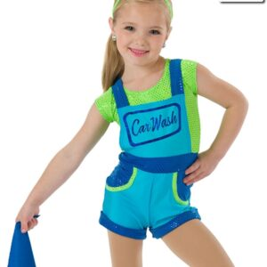 577  Car Wash Themed Character Dance Costume Turquoise