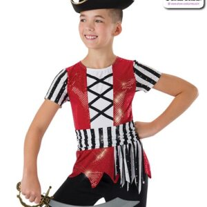 581  Pirates Life Boy Pirate Character Performance Dance Top
